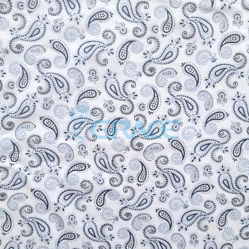 Кулирка - ткань хлопковая трикотажная, серая с узором арабески