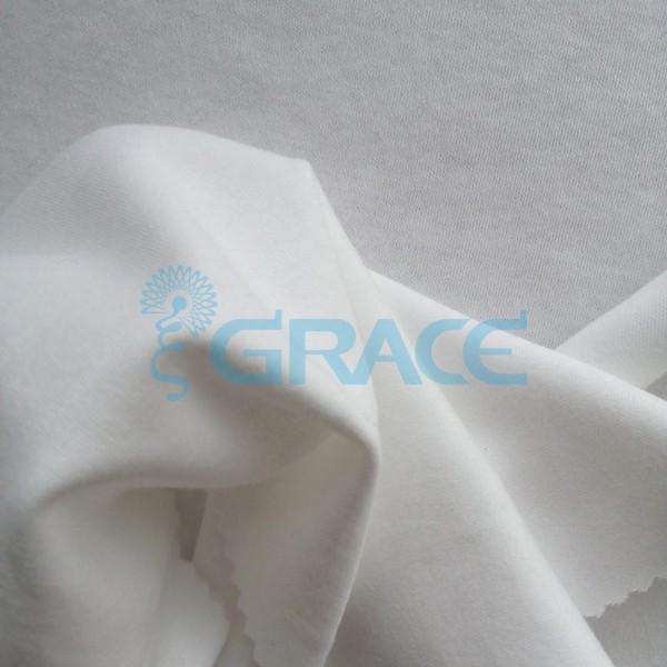 Интерлок GVI407 - ткань хлопковая трикотажная, бежевая