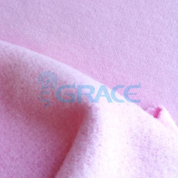 Футер gots finlandia celebrity 280 - ткань хлопковая с начесом, розовая