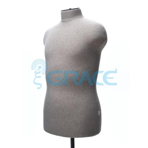 Манекен мягкий торс мужской 52 размер, телесный