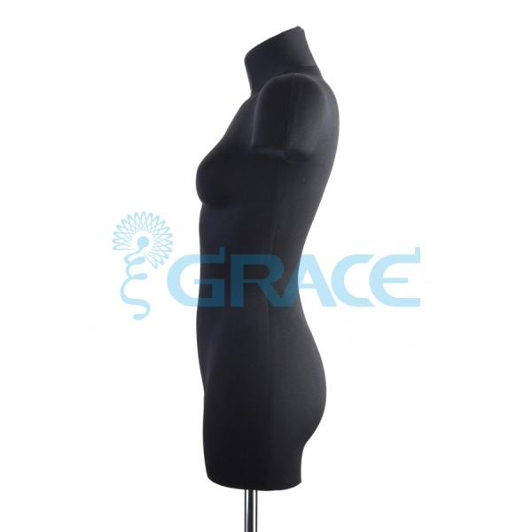Манекен мягкий демонстрационный женский 44, 46 размер, черный