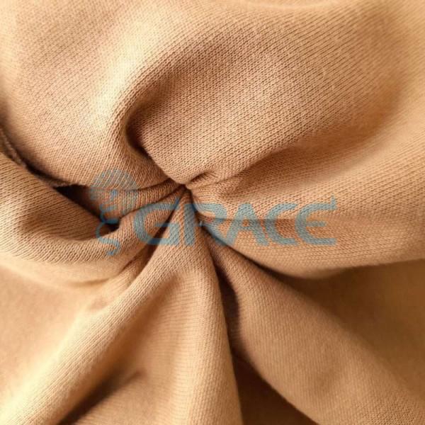 Интерлок кофейного оттенка - ткань хлопковая трикотажная однотонная