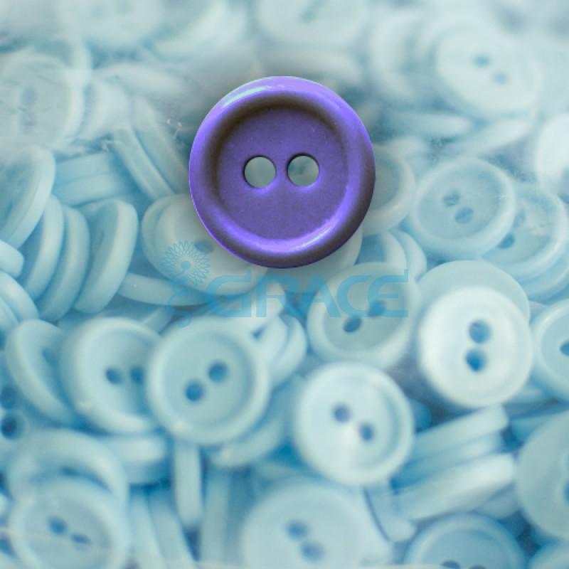 Пуговицы мелкие круглые плоские Guz YP 1818 (фиолетовые 56-38)