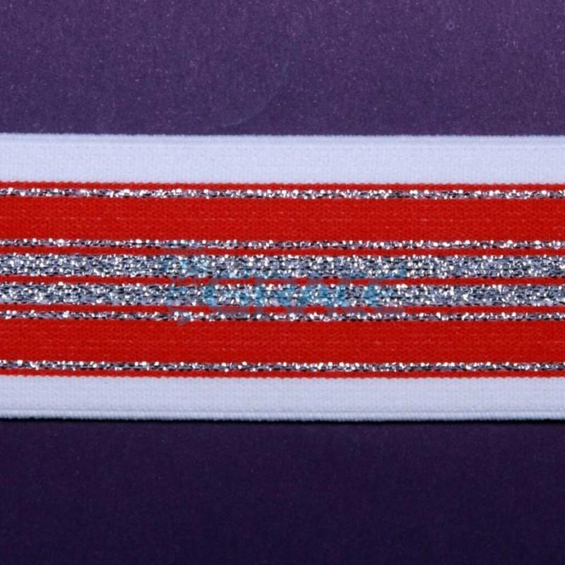 Резинка с металлизированными полосами