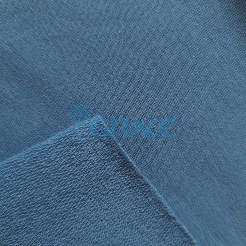 Футер 280 гр. - ткань хлопковая, петельчатая, холодного синего оттенка
