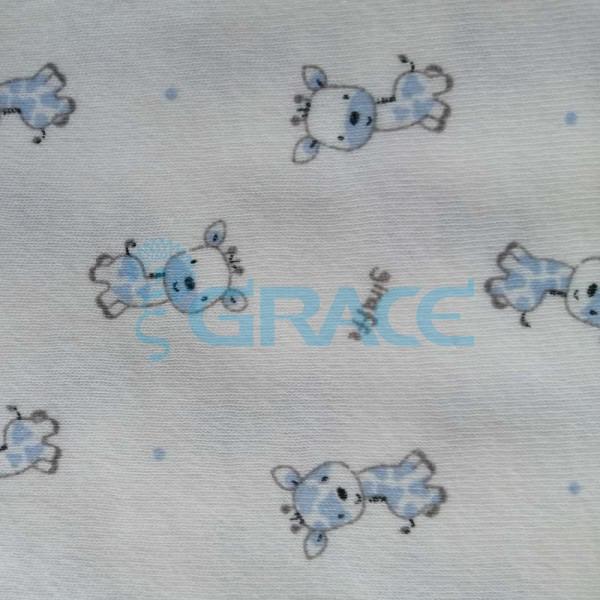 Интерлок Giraffe - ткань хлопковая трикотажная с рисунком