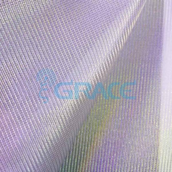Трикотажный подклад эластичный 105 гр/м², белый с блеском Podszewka Lurex