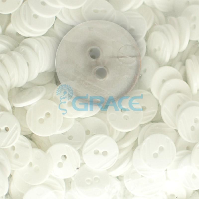 Пуговицы средние круглые плоские Guz YP 1824 (прозрачные 19-81)