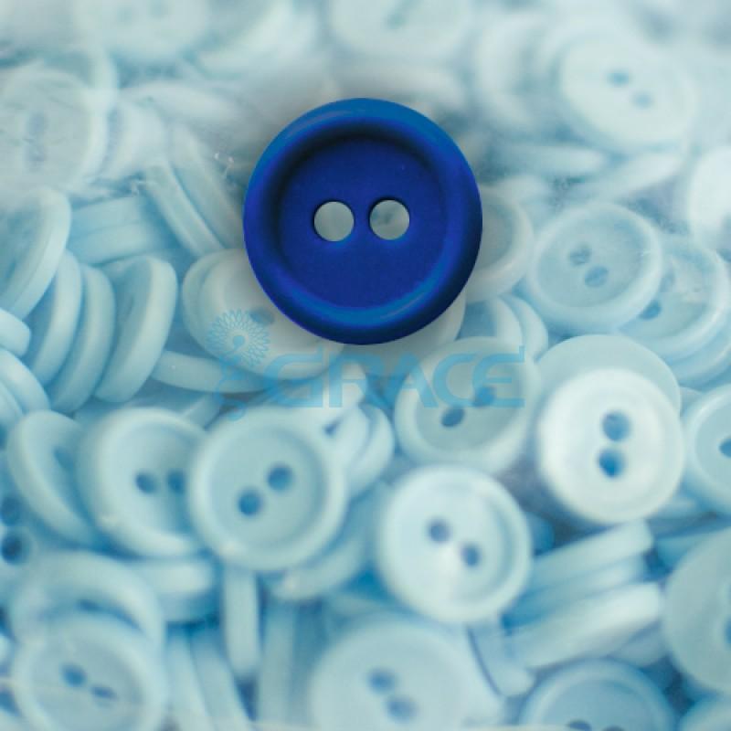 Пуговицы мелкие круглые плоские Guz YP 1818 (синие 40-05)