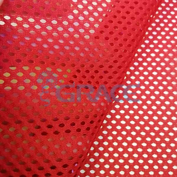 Спортивная сетка эластичная 152 гр/м², красная средняя, Siatka S 575 T