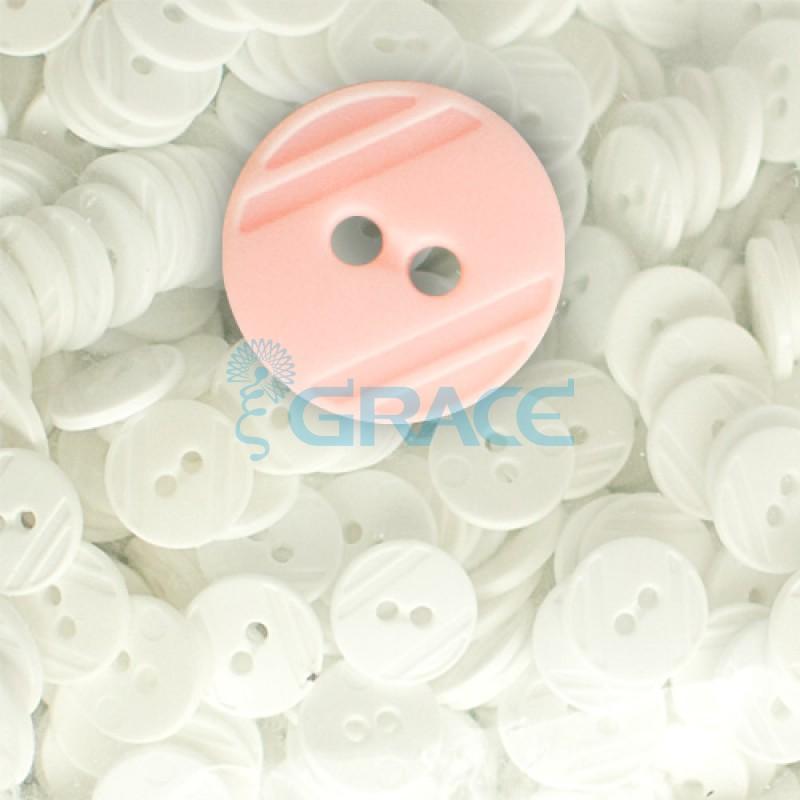 Пуговицы средние круглые плоские Guz YP 1824 (розовые 30-31)