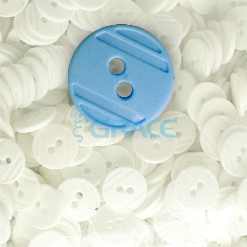 Пуговицы средние круглые плоские Guz YP 1824 (голубые 40-04)