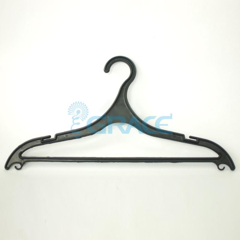 Вешалка для брюк, не поворотная, с крючками, 43 см. WiePBL-42 (черная)