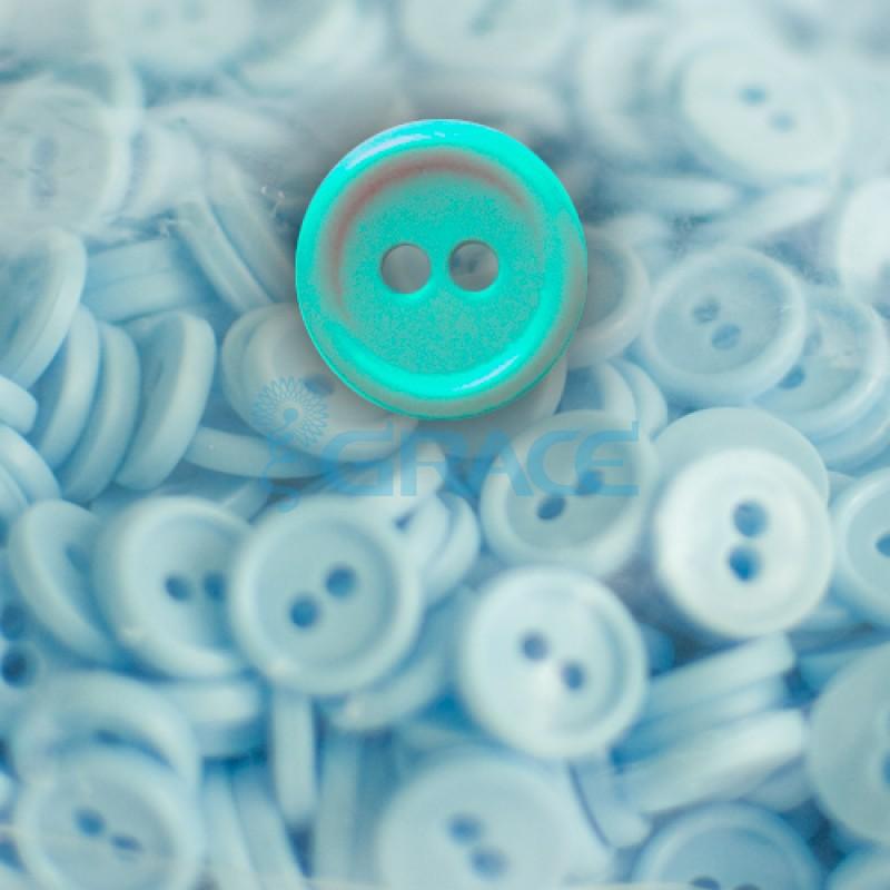Пуговицы мелкие круглые плоские Guz YP 1818 (зеленые 60-10)