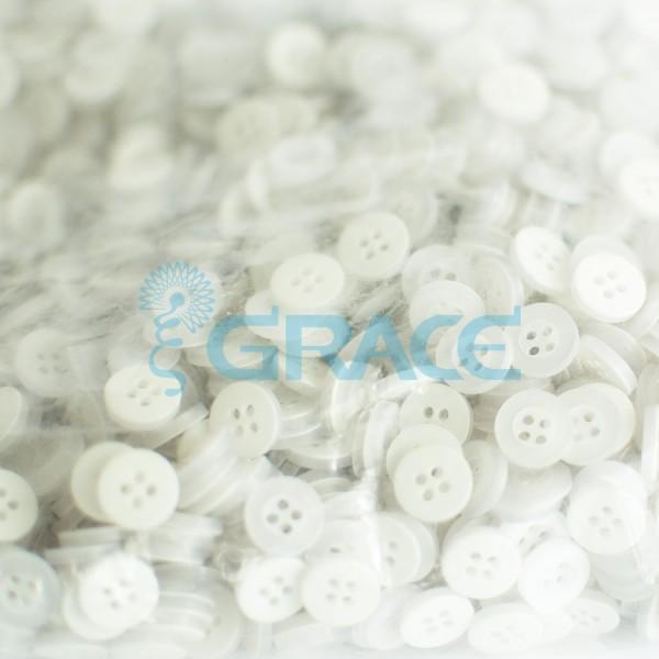 Пуговицы малые круглые плоские Guz YP 1728 (белые)