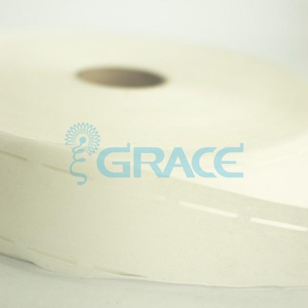 Лента для пояса брюк (корсаж брючный) Tas YP 060 bo, 10-40-10 мм., белый