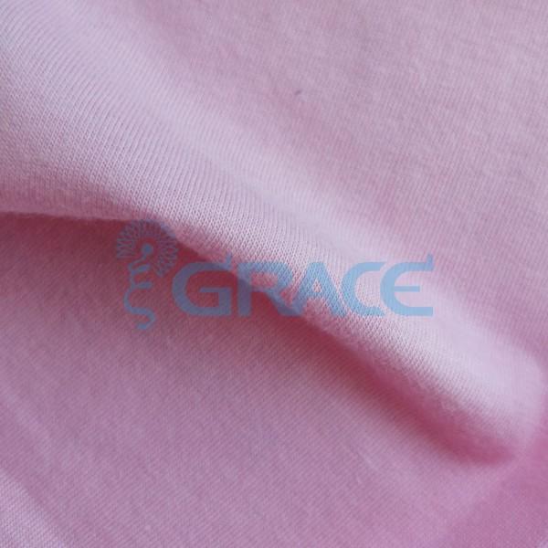 Кулирка GVS02 - ткань хлопковая трикотажная, розовая