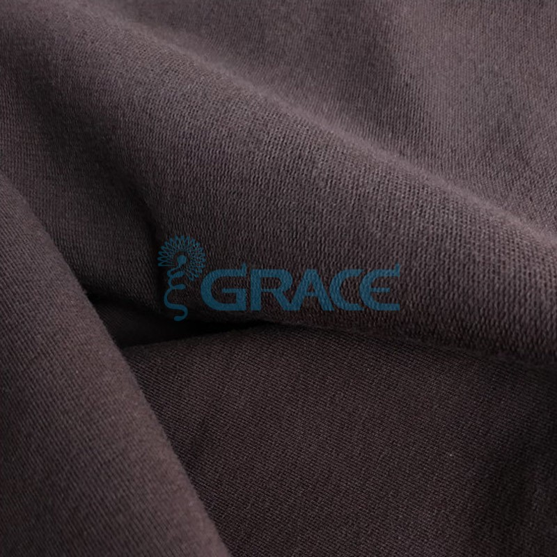 Футер 280 гр. - ткань хлопковая, петельчатая, коричневого цвета