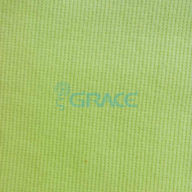 Кашкорсе GVC46 - ткань хлопковая трикотажная, салатовая