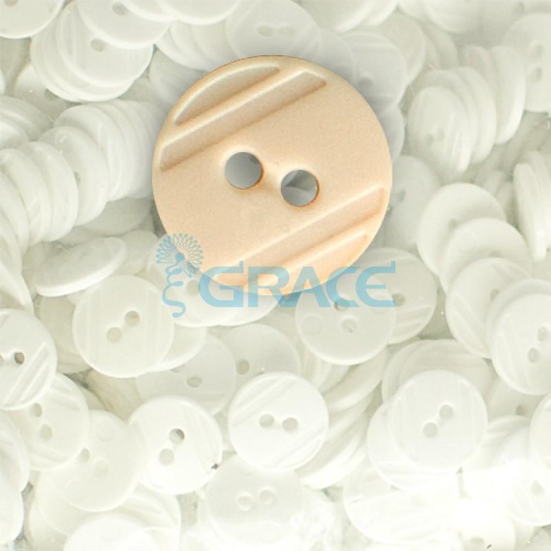 Пуговицы средние круглые плоские Guz YP 1824 (бежевые 92-02)