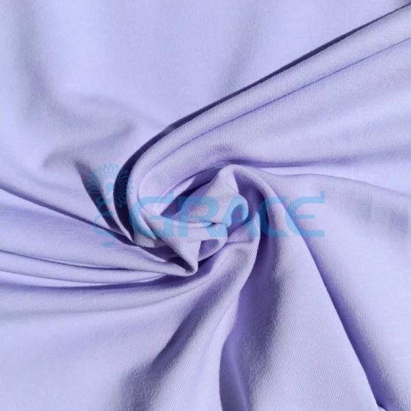 Футер 280 гр. - ткань хлопковая, петельчатая, пастельно-фиолетового, лилового цвета