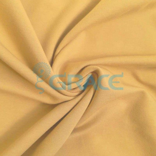 Футер 320 гр. - ткань хлопковая, петельчатый, темно-желтый горчичный оттенок