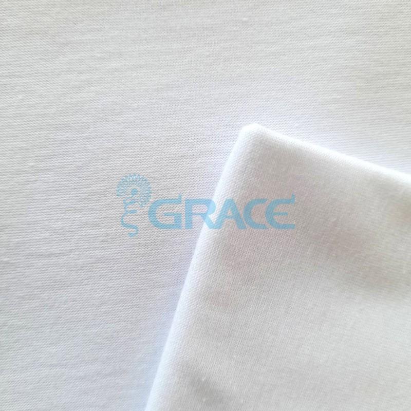 Кулирка джерси - ткань хлопковая трикотажная, белая однотонная