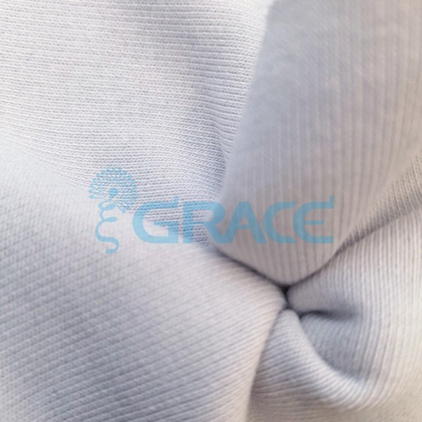 Футер 320 гр. - ткань хлопковая, петельчатый, белый цвет