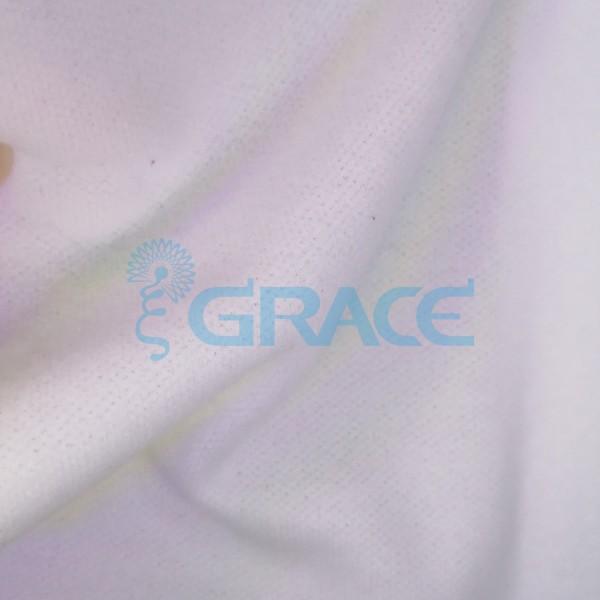 Трикотажный подклад эластичный 150 гр/м², белый с начесом Dzianina Azurowa PB Drap