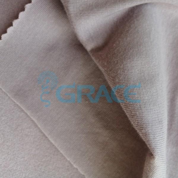 Кулирка GVS02 - ткань хлопковая трикотажная, темно-бежевая