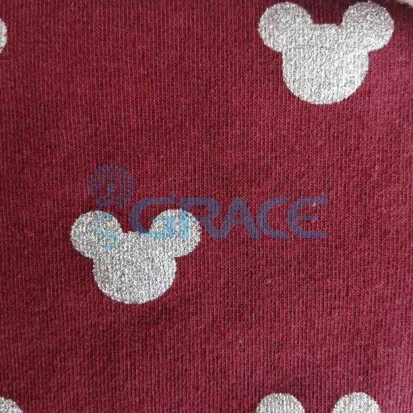 Коллекция интерлок с рисунком микки маус - ткань хлопковая, трикотаж с блеском