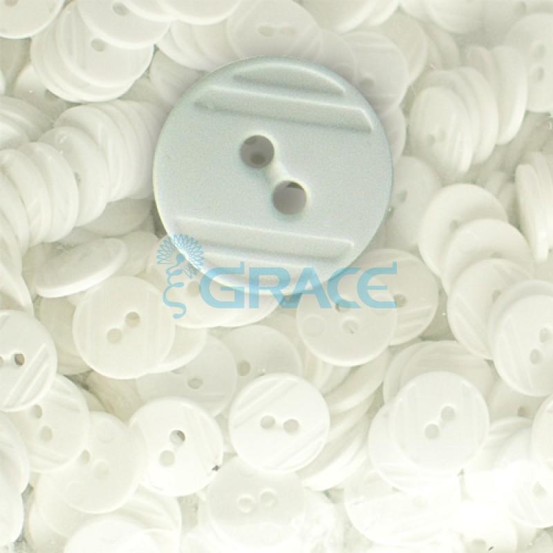 Пуговицы средние круглые плоские Guz YP 1824 (серые 03-43)