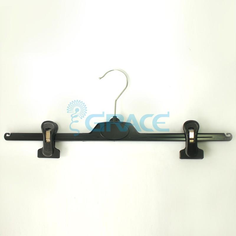 Вешалка для брюк с зажимами, поворотная, с крючками, 40 см. WieJ64091 (черная)