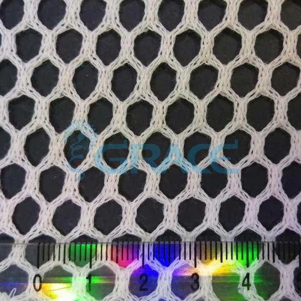 Спортивная сетка хлопковая 76 гр/м², белая крупная, Dzianina S 2230 C