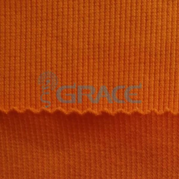 Кашкорсе GVC46 - ткань хлопковая трикотажная, оранжевая