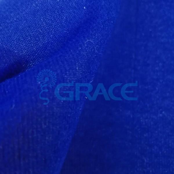 Трикотажный велюр эластичный 75÷80 гр./м², синий Dzianina Welurowa