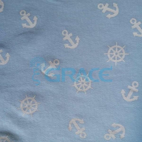 Коллекция интерлок с рисунком якорь - ткань хлопковая, трикотаж