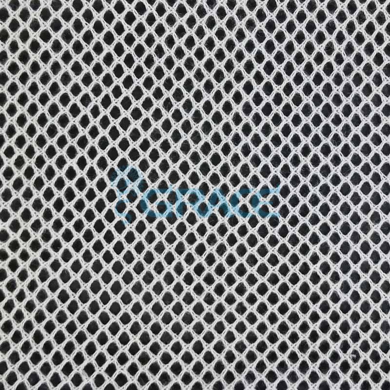 Спортивная сетка хлопковая 79 гр/м², белая ромб, Dzianina S 2270 C