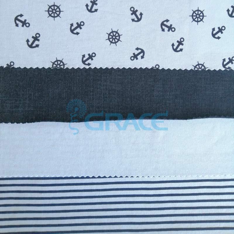 Коллекция интерлок с рисунком штурвал - ткань хлопковая, трикотаж