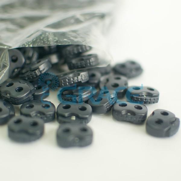 Фиксатор пластиковый для шнура StoY 107 (черный)