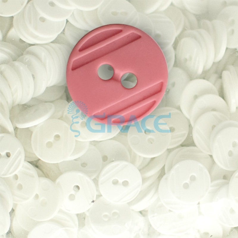 Пуговицы средние круглые плоские Guz YP 1824 (розовые 37-42)