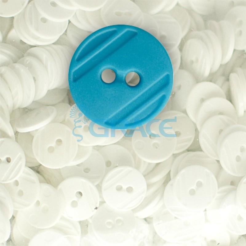 Пуговицы средние круглые плоские Guz YP 1824 (голубые 50-50)