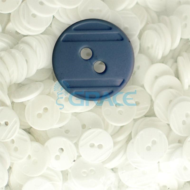 Пуговицы средние круглые плоские Guz YP 1824 (синие 707-15)