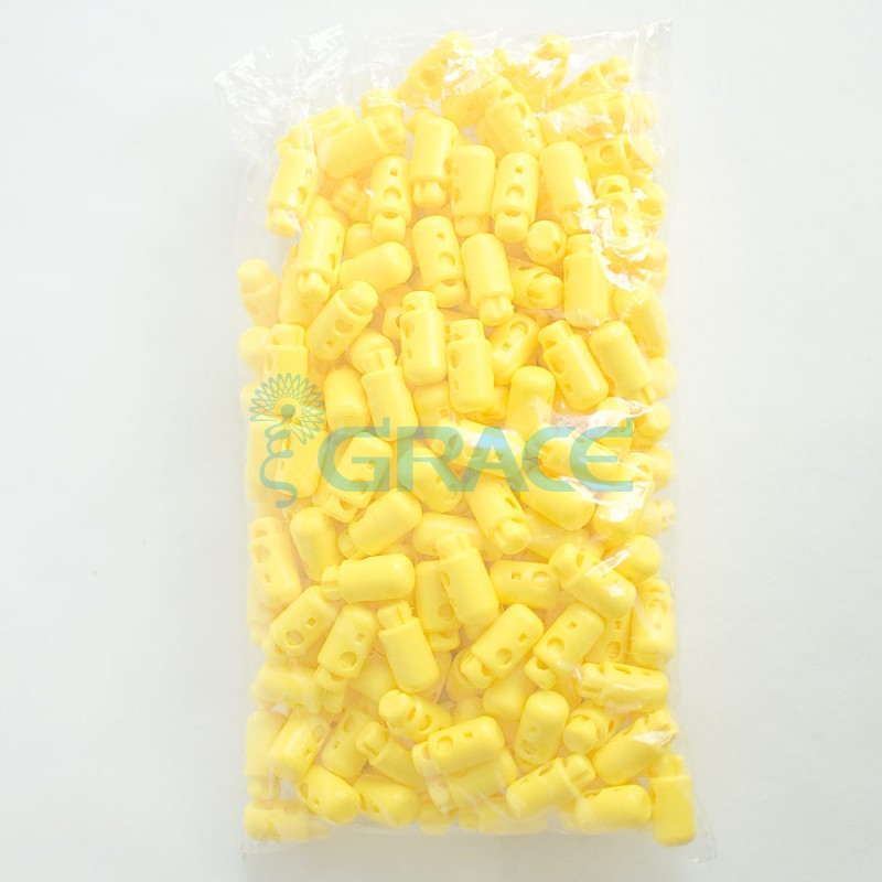 Фиксатор пластиковый для шнура Sto-13.50 (желтый)