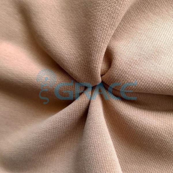 Футер 320 гр. - ткань хлопковая, петельчатый, бежевый оттенок латте