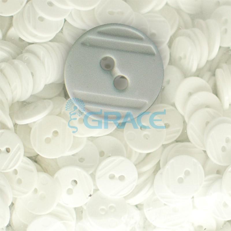 Пуговицы средние круглые плоские Guz YP 1824 (серые 70-31)
