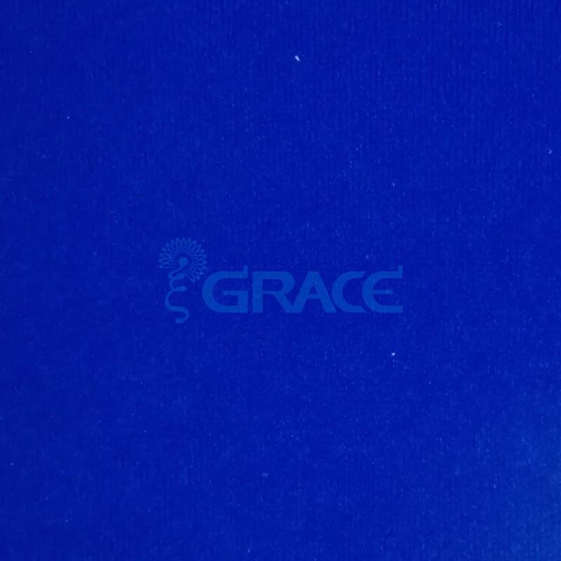 Трикотажный велюр огнестойкий 251 гр./м², синий Welur W 136 FR