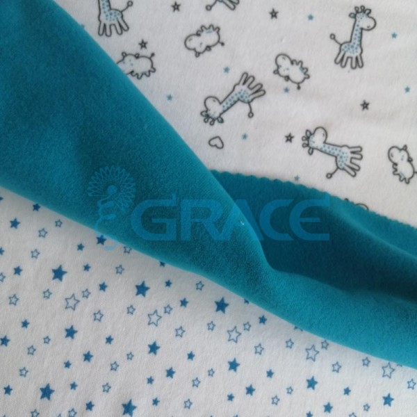 Коллекция интерлок с рисунком жираф, звезды - ткань хлопковая, трикотаж