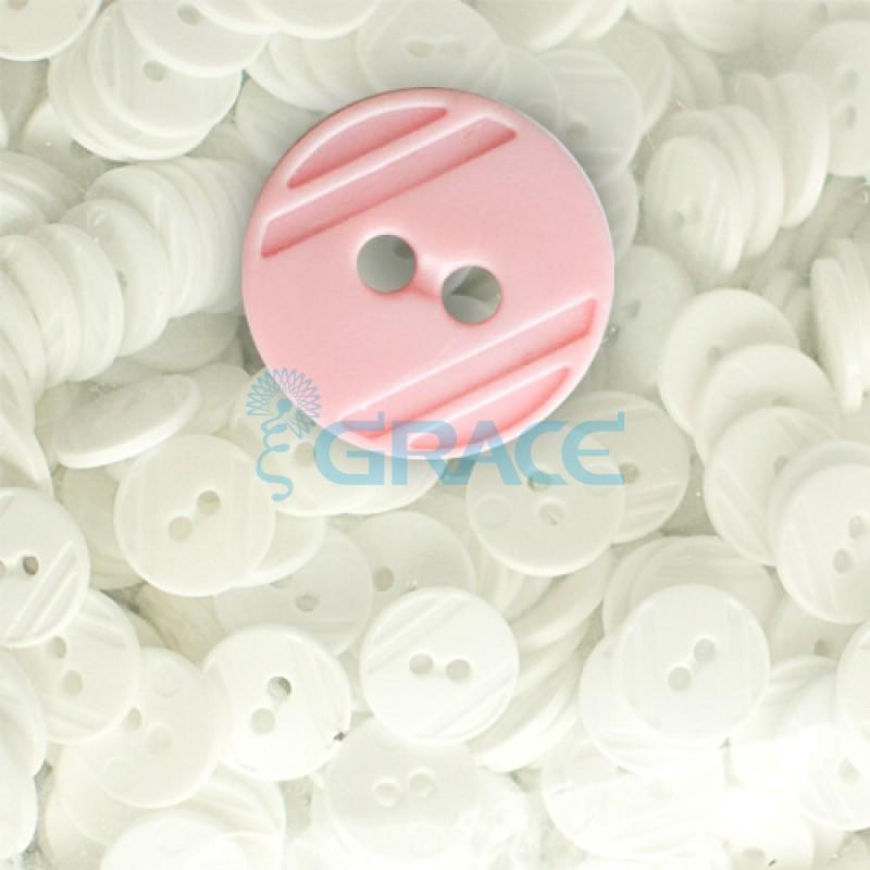 Пуговицы средние круглые плоские Guz YP 1824 (розовые 53-00)