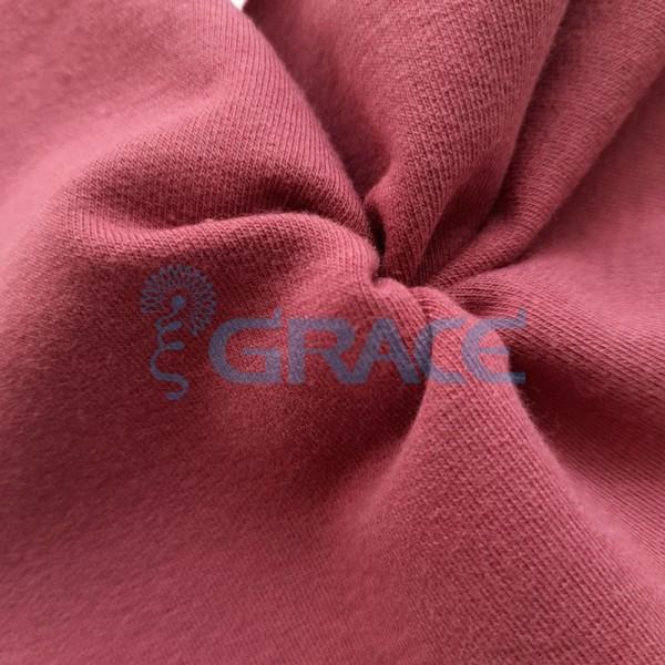 Футер 280 гр. - ткань хлопковая, петельчатая, приглушенного розового цвета
